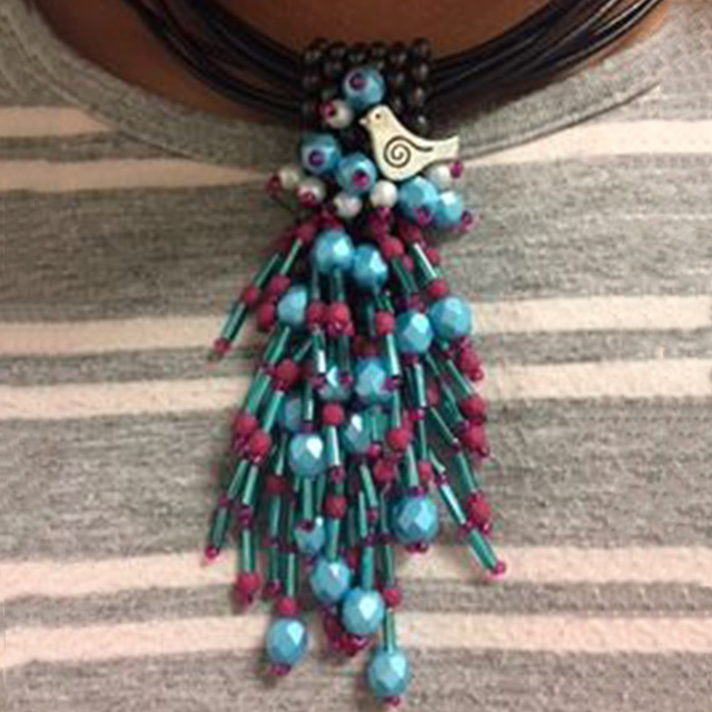 Beaded Necklace Design by Student | Class by Theresa Hanada